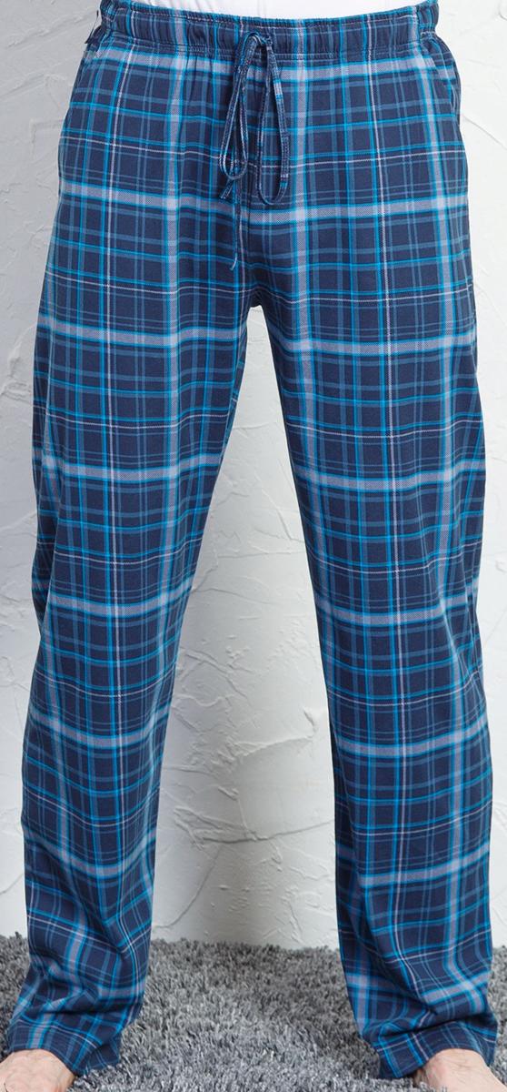 Брюки для дома мужские Vienettas Secret, цвет: бирюзовый. 710158 4218. Размер XXL (52)710158 4218Домашние брюки от Vienettas Secret выполнены из натурального хлопка. Модель свободного кроя с эластичной резинкой на талии и регулируемым шнурком.