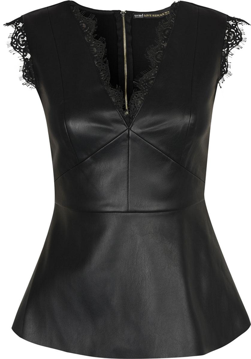 Блузка женская Love Republic, цвет: черный. 8152118328. Размер 448152118328