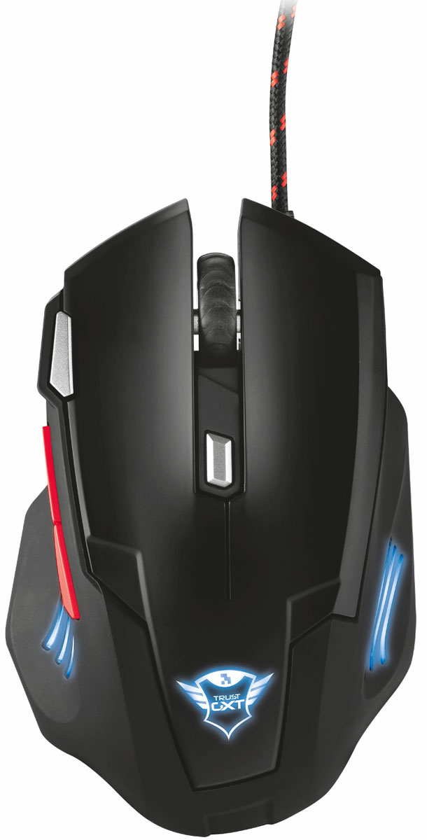 Trust GXT 111, Black Red игровая мышь мышь trust gxt 130 wireless gaming mouse usb
