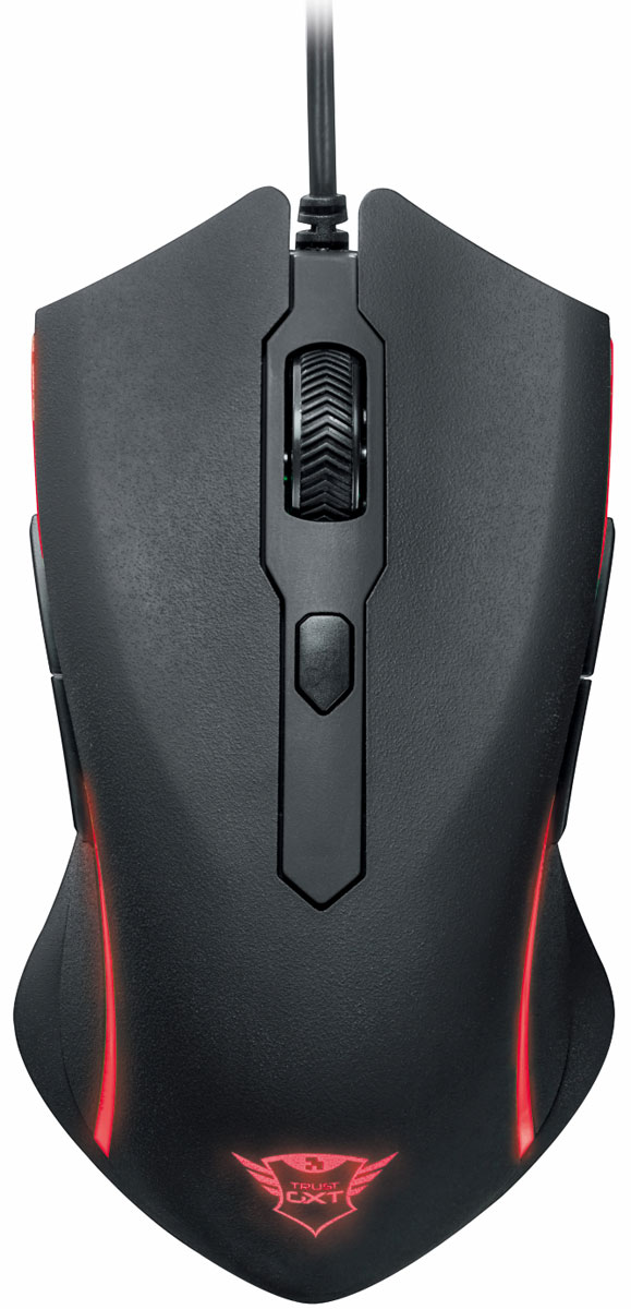 Trust GXT 177 Rivan, Black Red игровая мышь