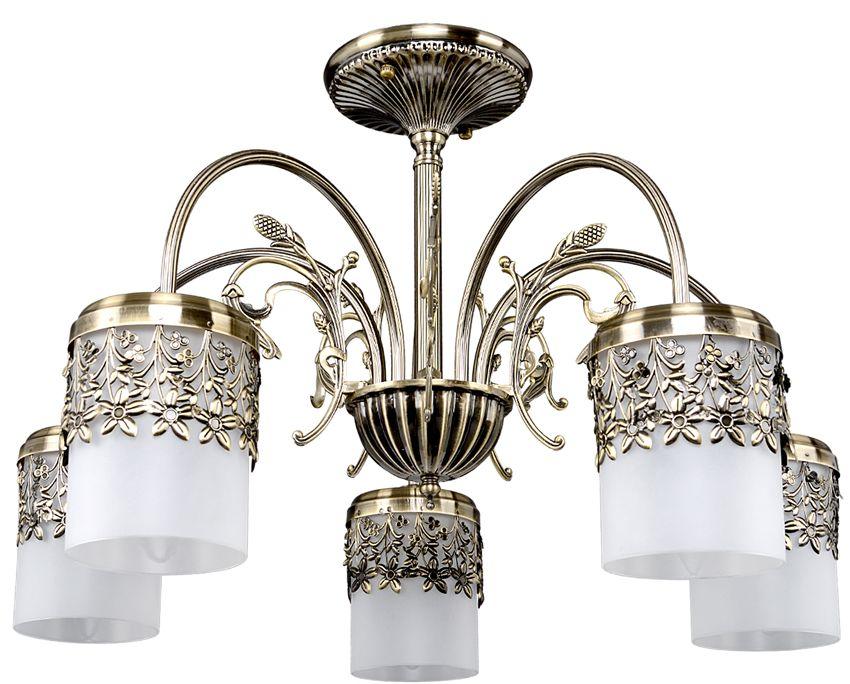 Люстра Максисвет Классика, 5 х E14, 60W. 1-3859-5-AB E141-3859-5-AB E14Основное достоинство светильников выполненных в классическом стиле –это использование натуральных материалов и естественных цветов.Каркас светильника выполнен в цвете античной бронзы.