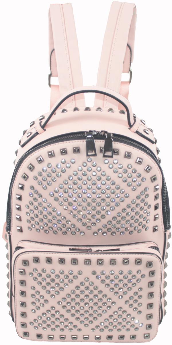 Рюкзак женский Flioraj, цвет: розовый. 6950369503 pinkРюкзак женский Flioraj закрывается на молнию. Внутри - одно отделение, карман для мобильного телефона, карман на молнии, снаружи - карман на молнии. Высота ручки 6 см.