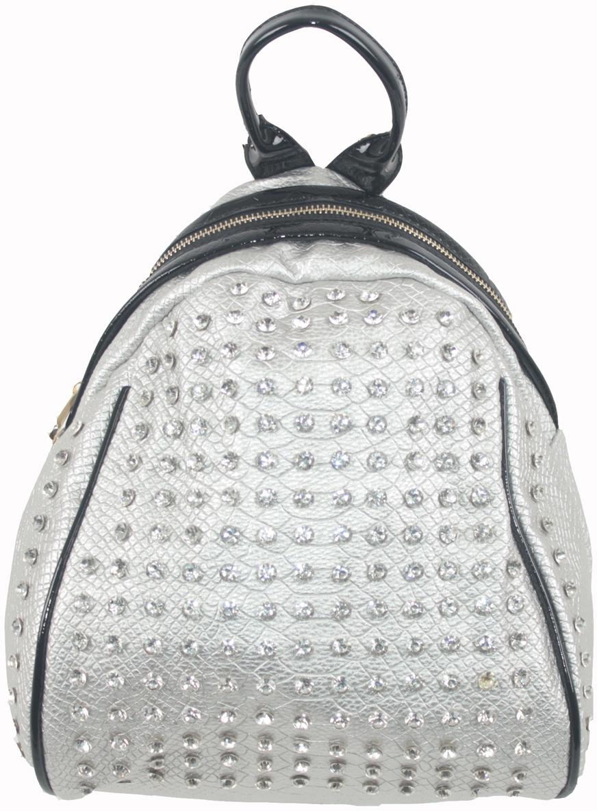 Рюкзак женский Flioraj, цвет: серый. 6915169151 silverРюкзак женский Flioraj закрывается на молнию. Внутри - одно отделение, два кармана для мобильного телефона, карман на молнии, снаружи - карман на молнии. Высота ручки 9 см.