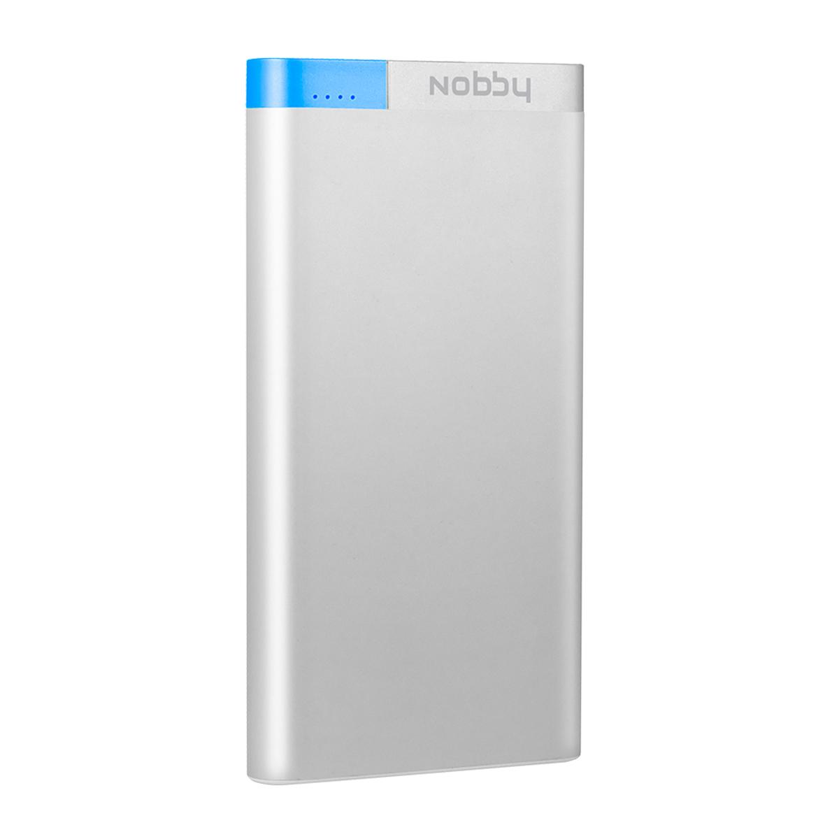 Nobby Metallic 031-001, Silver внешний аккумулятор (10 000мАч)