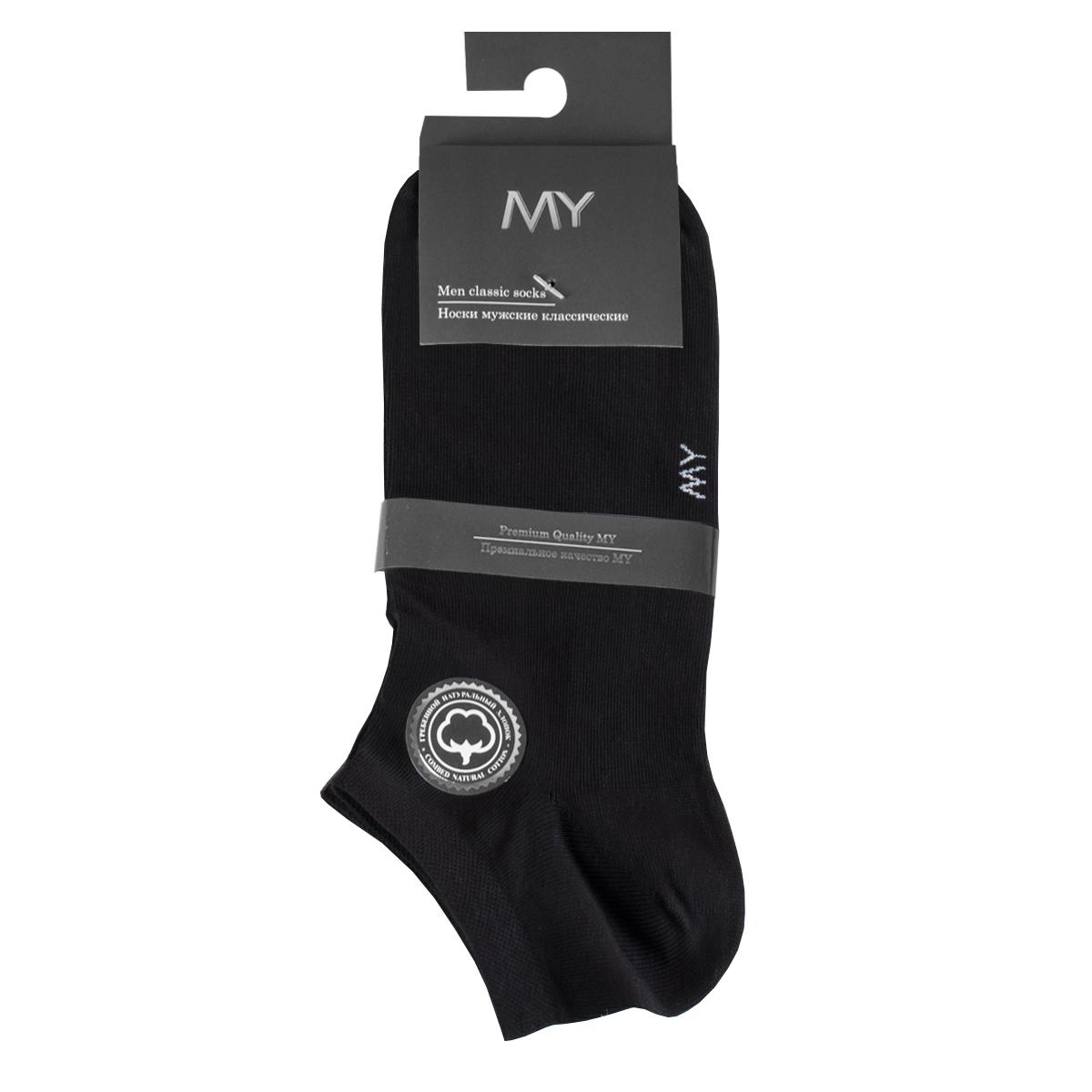 Носки мужские Mirey, цвет: черный. MSC 006. Размер (38/40)MSC 006Короткие мужские носки от Mirey выполнены из хлопка с эластаном.Усиленный мысок и пятка, двойная резинка сетка, плоский шов.