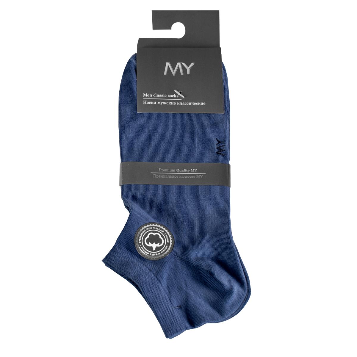 Носки мужские Mirey, цвет: синий. MSC 006. Размер (38/40)MSC 006Короткие мужские носки от Mirey выполнены из хлопка с эластаном.Усиленный мысок и пятка, двойная резинка сетка, плоский шов.
