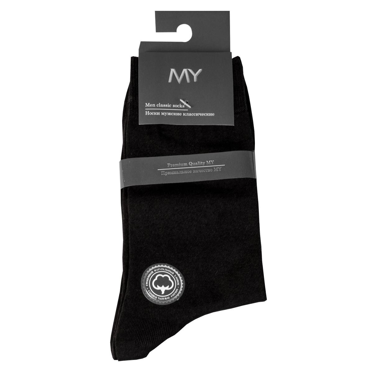 Носки мужские Mirey, цвет: черный. MSC 005. Размер (44/46)MSC 005Классические мужские тонкие носки от Mirey выполнены из мерсеризованного хлопка. Усиленный мысок и пятка, комфортная двойная резинка, плоский шов.