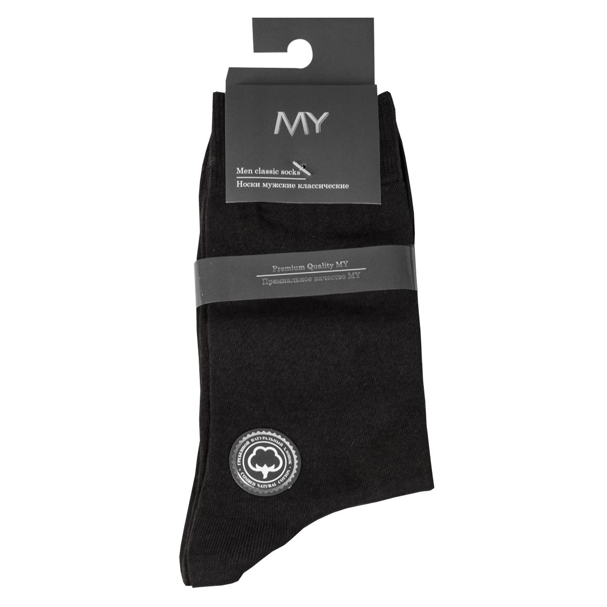 Носки мужские Mirey, цвет: темно-серый. MSC 005. Размер (41/43)MSC 005Классические мужские тонкие носки от Mirey выполнены из мерсеризованного хлопка. Усиленный мысок и пятка, комфортная двойная резинка, плоский шов.