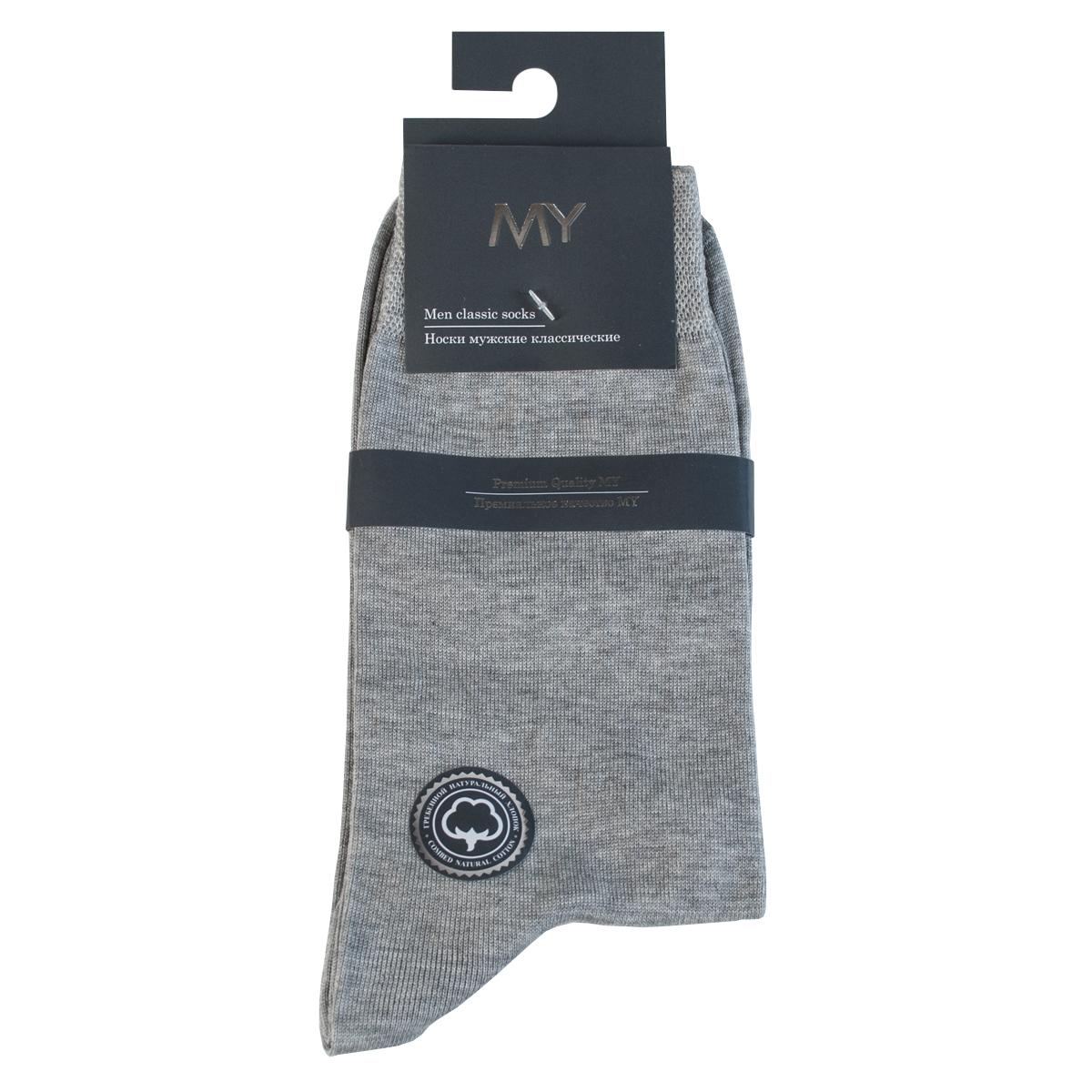 Носки мужские Mirey, цвет: светло-серый. MSC 004. Размер (41/43)MSC 004Классические мужские носки от Mirey выполнены из мерсеризованного хлопка. Усиленный мысок и пятка, комфортная двойная резинка сетка, плоский шов.