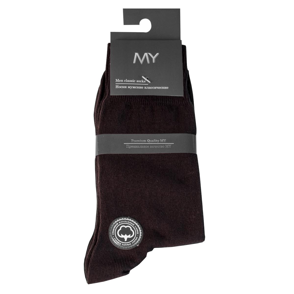 Носки мужские Mirey, цвет: коричневый. MSC 003. Размер (38/40)MSC 003Классические мужские носки от Mirey выполнены из хлопка с эластаном.Мысок и пятка не усиленные, двойная резинка, плоский шов.