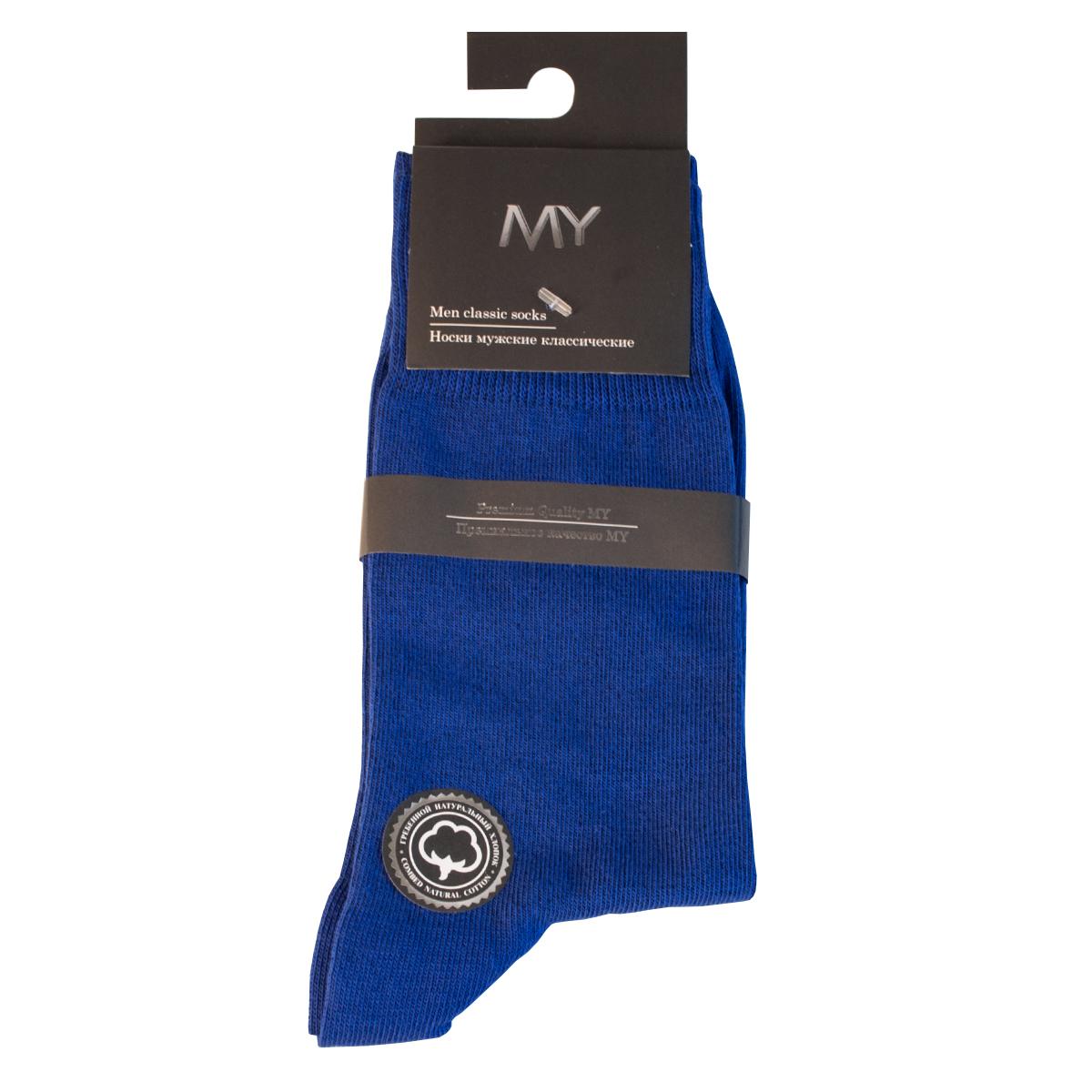 Носки мужские Mirey, цвет: синий. MSC 003. Размер (38/40)MSC 003Классические мужские носки от Mirey выполнены из хлопка с эластаном.Мысок и пятка не усиленные, двойная резинка, плоский шов.