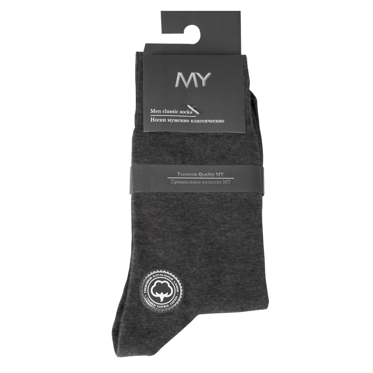 Носки мужские Mirey, цвет: темно-серый. MSC 003. Размер (38/40)MSC 003Классические мужские носки от Mirey выполнены из хлопка с эластаном.Мысок и пятка не усиленные, двойная резинка, плоский шов.