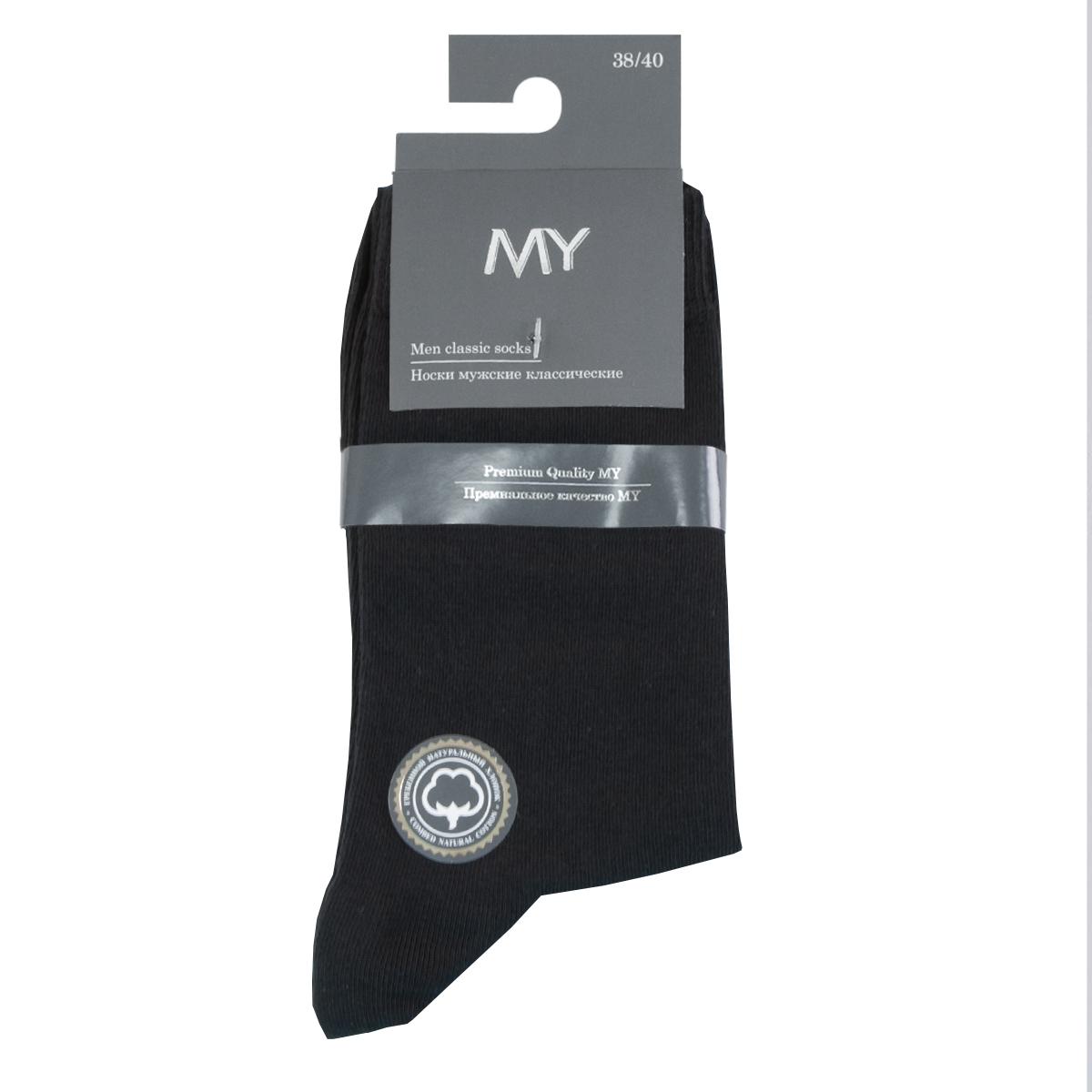 Носки мужские Mirey, цвет: черный. MSC 002. Размер (41/43)MSC 002Классические тонкие мужские носки от Mirey выполнены из хлопка с эластаном. Усиленный мысок и пятка, комфортная двойная резинка, круглый шов.