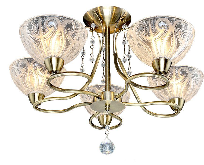 Люстра Максисвет Классика, 5 х E14, 60W. 1-3905-5-AB E141-3905-5-AB E14Основное достоинство светильников выполненных в классическом стиле –это использование натуральных материалов и естественных цветов.Каркас светильника выполнен в цвете античной бронзы.