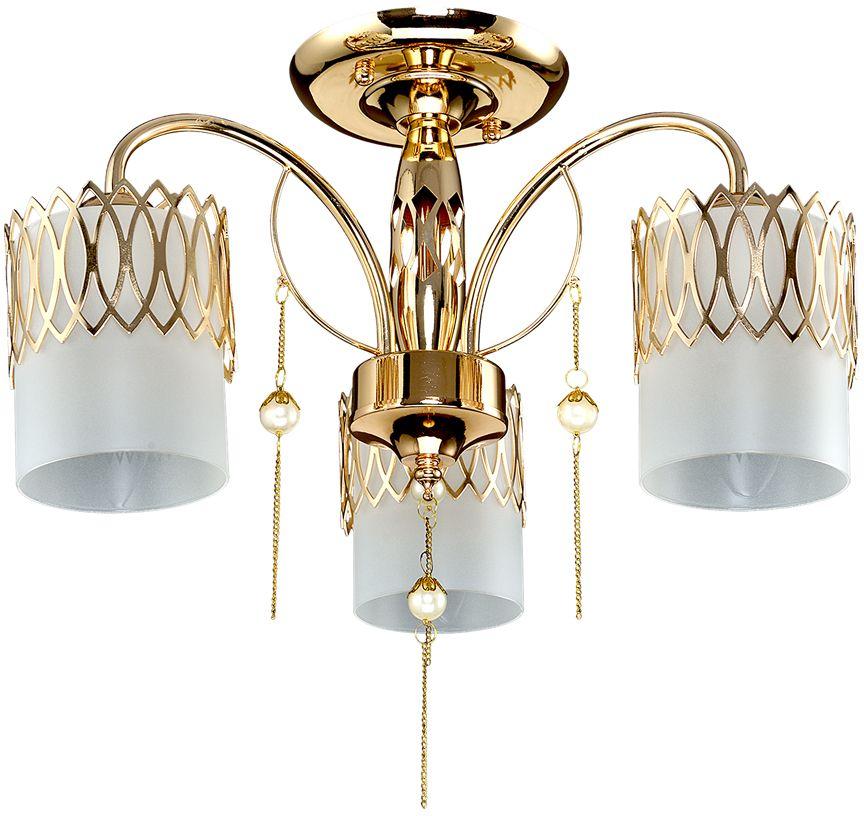 Люстра Максисвет Классика, 3 х E14, 60W. 1-3938-3-FG E141-3938-3-FG E14Новая серия потолочных светильников 3938 в коллекции Классика представлена 3, 5, 8-рожковой люстрами и бра:- каркас светильников выполнен в цвете французского золота и украшен жемчужными подвесками на золотых цепочках.- стеклянные плафоны из матового стекла обрамлены по периметру металлическими орнаментами-направленные вниз плафоны позволяют максимально осветить помещение.
