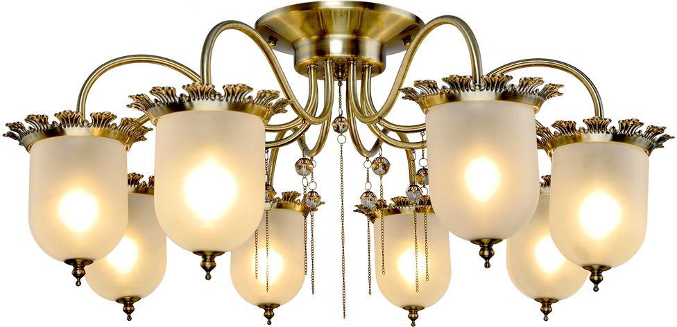 Люстра Максисвет Классика, 8 х E14, 60W. 1-4126-8-AB E141-4126-8-AB E14Основное достоинство светильников выполненных в классическом стиле –это использование натуральных материалов и естественных цветов.Каркас светильника выполнен в цвете античной бронзы.