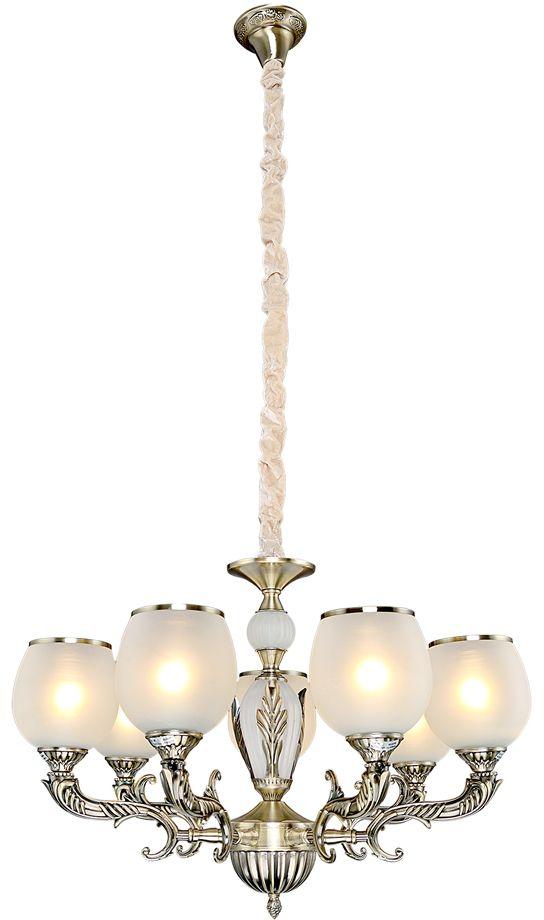 Люстра Максисвет Классика, 7 х E27, 60W. 2-3852-7-AB E272-3852-7-AB E27Основное достоинство светильников выполненных в классическом стиле –это использование натуральных материалов и естественных цветов.Каркас светильника выполнен в цвете античной бронзы.