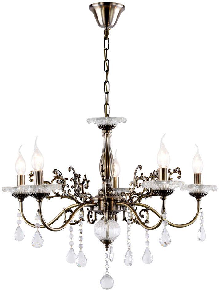 Люстра Максисвет Классика, 5 х E14, 40W. 2-3856-5-AB E142-3856-5-AB E14Основное достоинство светильников выполненных в классическом стиле –это использование натуральных материалов и естественных цветов.Каркас светильника выполнен в цвете античной бронзы.
