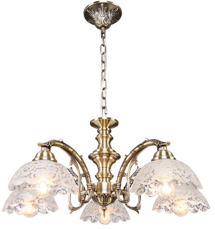 Люстра Максисвет Классика, 5 х E27, 60W. 2-3870-5-AB E272-3870-5-AB E27Основное достоинство светильников выполненных в классическом стиле –это использование натуральных материалов и естественных цветов.Каркас светильника выполнен в цвете античной бронзы.