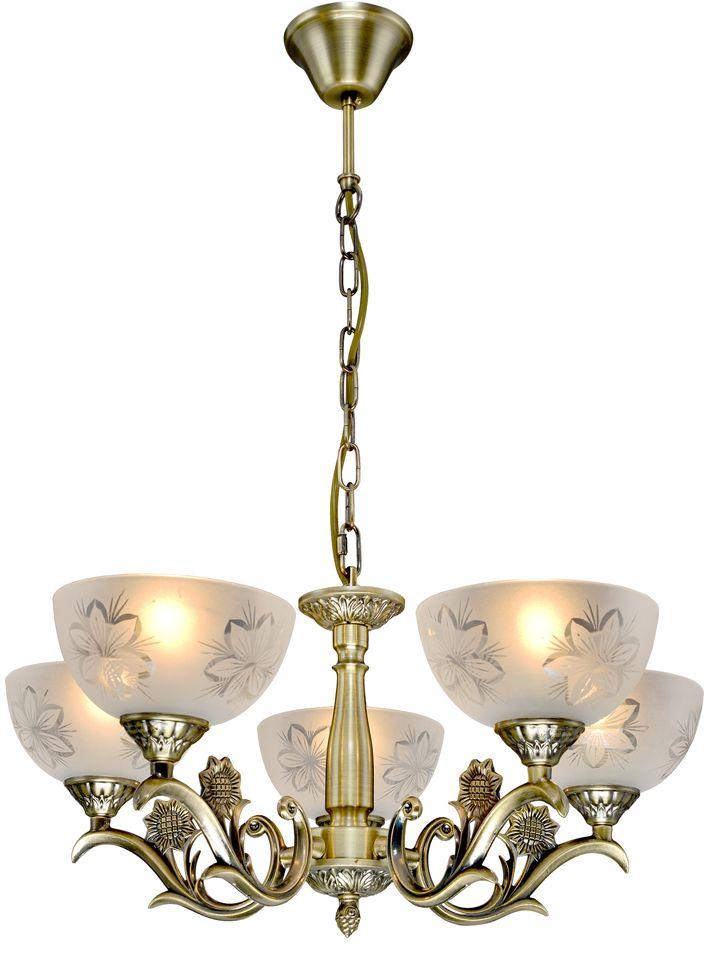 Люстра Максисвет Классика, 5 х E27, 60W. 2-3925-5-AB E272-3925-5-AB E27Основное достоинство светильников выполненных в классическом стиле –это использование натуральных материалов и естественных цветов.Каркас светильника выполнен в цвете античной бронзы.