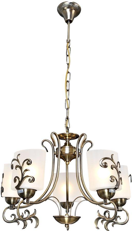 Люстра Максисвет Классика, 5 х E27, 60W. 2-4260-5-AB E272-4260-5-AB E27Основное достоинство светильников выполненных в классическом стиле –это использование натуральных материалов и естественных цветов.Каркас светильника выполнен в цвете античной бронзы.