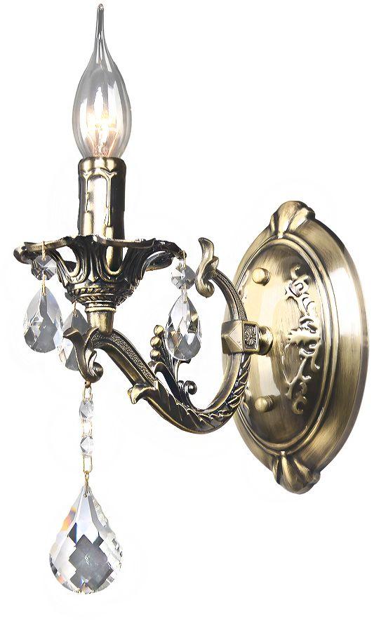 Бра Максисвет Классика, 1 х E14, 60W. 3-4280-1-AB E143-4280-1-AB E14Основное достоинство светильников выполненных в классическом стиле – это использование натуральных материалов и естественных цветов. Каркас светильника выполнен в цвете античной бронзы.