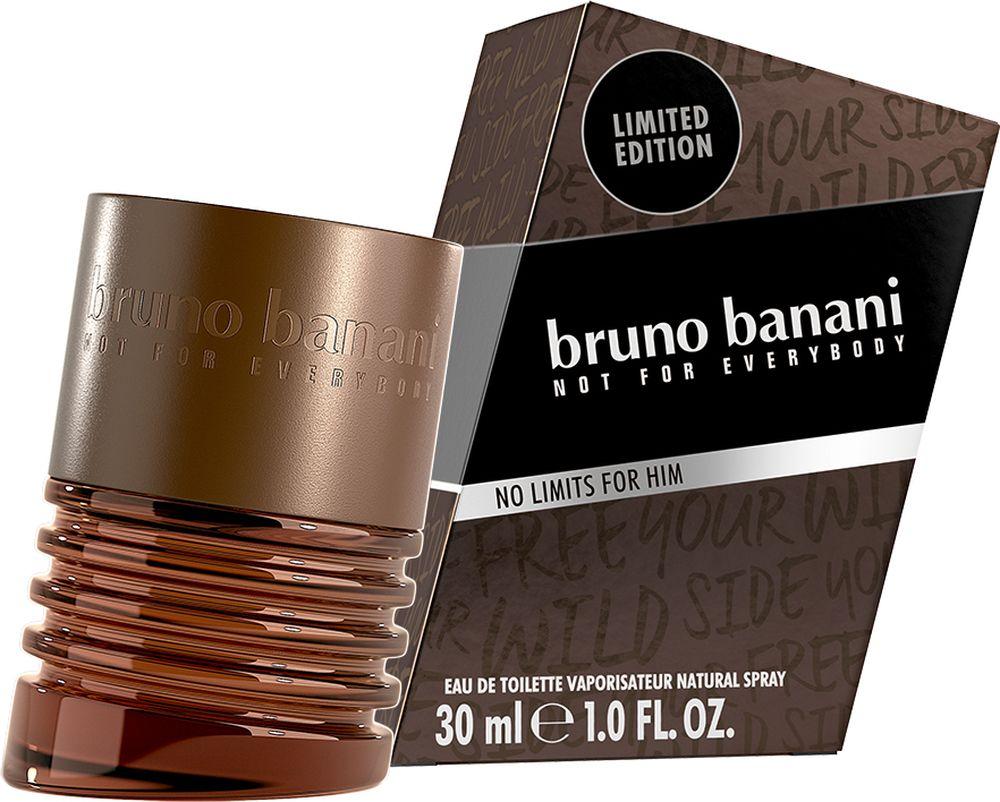 Bruno Banani No Limits Man 18 Туалетная вода, 30 мл8005610555058No limits – яркий и притягательный аромат, созданный для тех, кто хочет оставаться в тренде несмотря ни на какие обстоятельства. Принадлежит категории древесные ароматические. Мужской аромат открывается звучанием гуарани, искристого грейпфрута и красного яблока. В нотах сердца – манящая лаванда и ореховые аккорды. Шлейф аромата, созданный благодаря сочетанию брутального ветивера, томного бензоина и аккорды янтаря поможет покорить любую девушку.