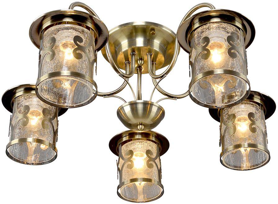Люстра Максисвет Ковка, 5 х E27, 60W. 1-4610-5-AB E271-4610-5-AB E27Кованые элементы в интерьере квартиры применяются с давних времен, и с тех самых времен они характеризуются изысканностью и утончённостью. Оригинальные светильники коллекции Ковка» подчеркивают общую стилистику интерьера.Несмотря на то, что изделия выполнены из металла, они не отягощают пространство,а наоборот, придают легкость всему помещению. Кованая мебель и предметы интерьера с художественной ковкой очень активно используютсяпри оформлении загородных домов. Воздушные люстры с кружевом из металла одинаковохороши и в уютных кафе, и в городских квартирах.Широкий модельный ряд «Максисвет» позволяет подобрать люстру под конкретный интерьер –от романтичного прованса до тяжелого замкового стиля. Для законченности интерьера люструможно дополнить бра, торшером или настольной лампой той же серии.