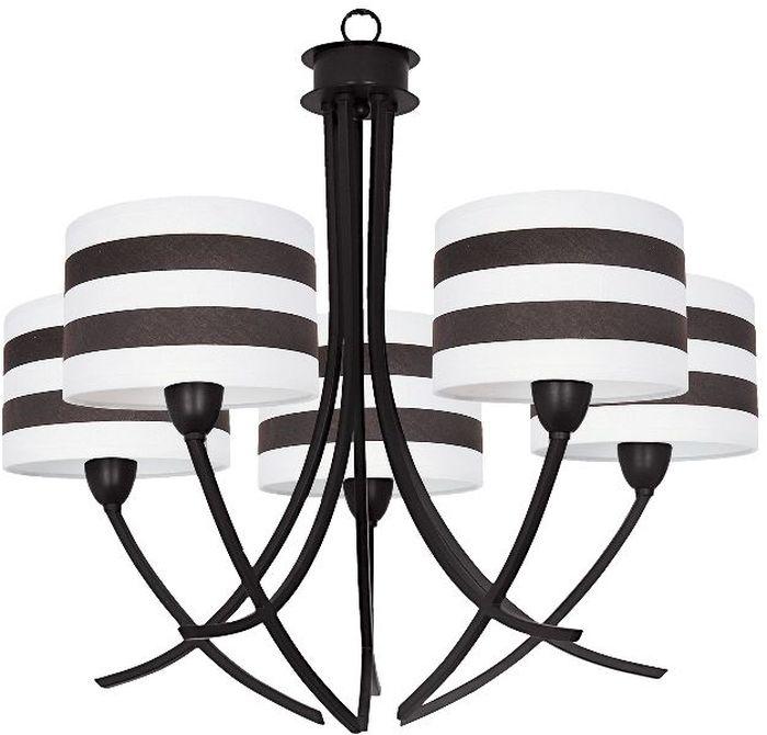 Люстра Максисвет Ковка, 5 х E14, 40W. 2-3739-5-BR E142-3739-5-BR E14Кованые элементы в интерьере квартиры применяются с давних времен, и с тех самых времен они характеризуются изысканностью и утончённостью. Оригинальные светильники коллекции Ковка» подчеркивают общую стилистику интерьера.Несмотря на то, что изделия выполнены из металла, они не отягощают пространство,а наоборот, придают легкость всему помещению. Кованая мебель и предметы интерьера с художественной ковкой очень активно используютсяпри оформлении загородных домов. Воздушные люстры с кружевом из металла одинаковохороши и в уютных кафе, и в городских квартирах.Широкий модельный ряд «Максисвет» позволяет подобрать люстру под конкретный интерьер –от романтичного прованса до тяжелого замкового стиля. Для законченности интерьера люструможно дополнить бра, торшером или настольной лампой той же серии.