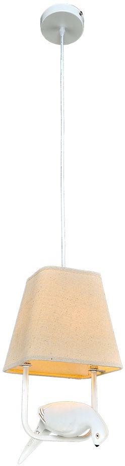 Люстра Максисвет Ковка, 1 х E14, 40W. 2-4903-1-WH E142-4903-1-WH E14Популярная серия 4901 расширена предложением подвесных люстр 4903 (1, 2, 3 лампы):Лаконичные текстильные абажуры из натуральных материалов дают ровный приглушенный свет.Декоративные элементы в форме птиц оживляют минималистические формы светильника.Новая серия светильников – это прекрасное решение для любителей современной интерпретации Ретроклассики.