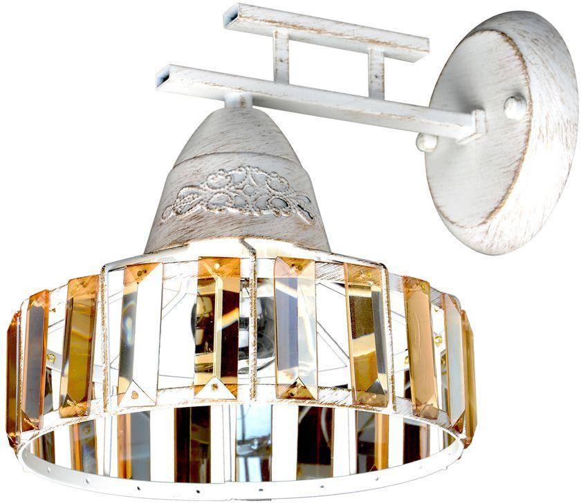 Бра Максисвет Ковка, 1 х E27, 60W. 3-4406-1-WHS E273-4406-1-WHS E27Эксклюзивная серия ковки 4406 – отличный выбор современного покупателя для обустройства интерьера в стиле Loft. Брутальная конструкция каркаса кажется легкой и воздушной, благодаря тонированным хрустальным элементам, обрамляющих плафоны светильников. Серия светильников представлена в популярных вариантах цветов каркаса: - белый цвет каркаса с золотистой патиной (люстры на 3 и 6 ламп, бра) - коричневый цвет каркаса с золотистой патиной (люстры на 3 и 5 ламп, бра) Серия светильников идеально в пишется в обустройство современных квартир, загородных домов, а также ресторанов и кафе.