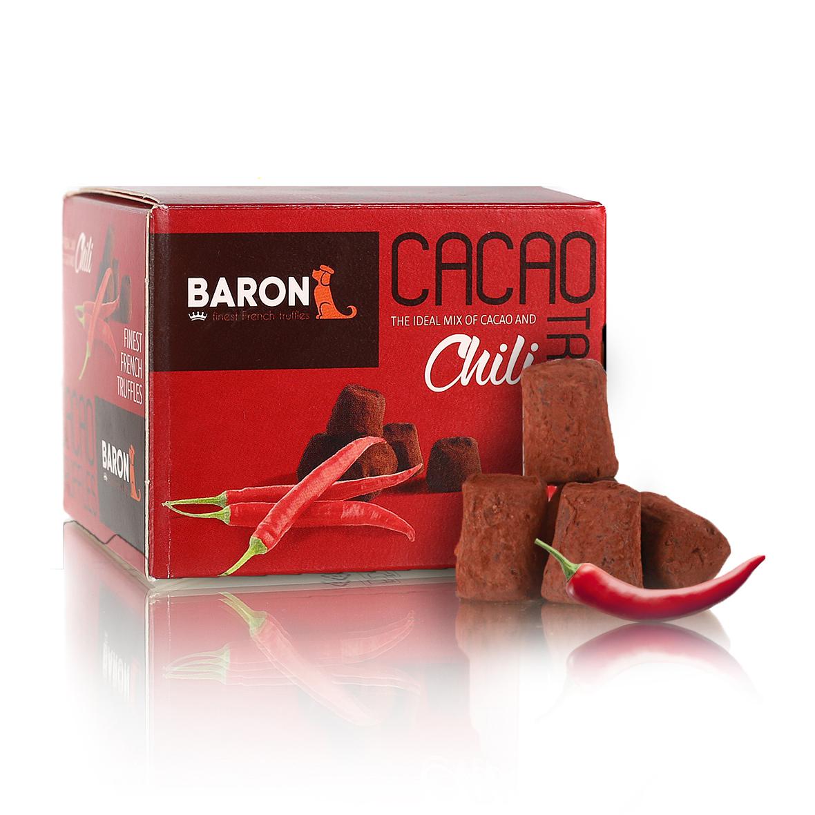 Baron Французские трюфели со вкусом чили, 100 г baron ecuador конфеты из темного шоколада с кофейной начинкой 100 г