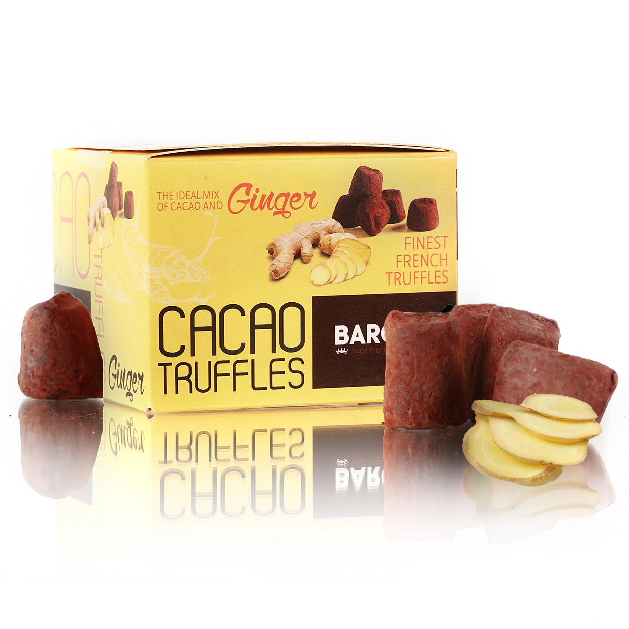 Baron Французские трюфели со вкусом имбиря, 100 г baron brazil конфеты из темного шоколада с апельсиновой начинкой 100 г
