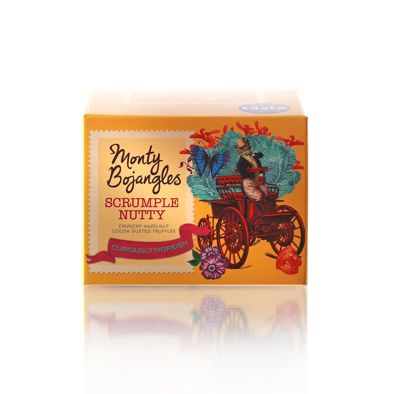 Monty Bojangles Французские трюфели с дробленым фундуком, 100 г chocmod конфеты chocmod трюфели париж 500г