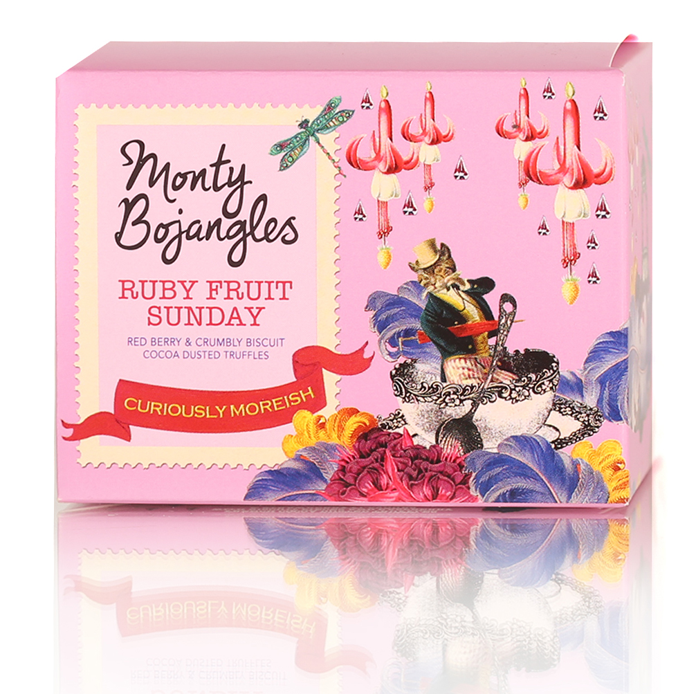 Monty Bojangles Французские трюфели с песочной крошкой и ягодным вкусом, 100 г7.18.18Трюфели обладают ярким ароматом какао-бобов с тонкими нотками красных ягод. Интенсивный вкус конфет раскрывается интригующим сочетанием темного шоколада, сладких, приятно хрустящих кусочков песочного печенья и нежных мотивов красных ягод. Конфеты станут идеальным дополнением к чаю, кофе или капучино. Трюфели можно предложить к молоку или какао.