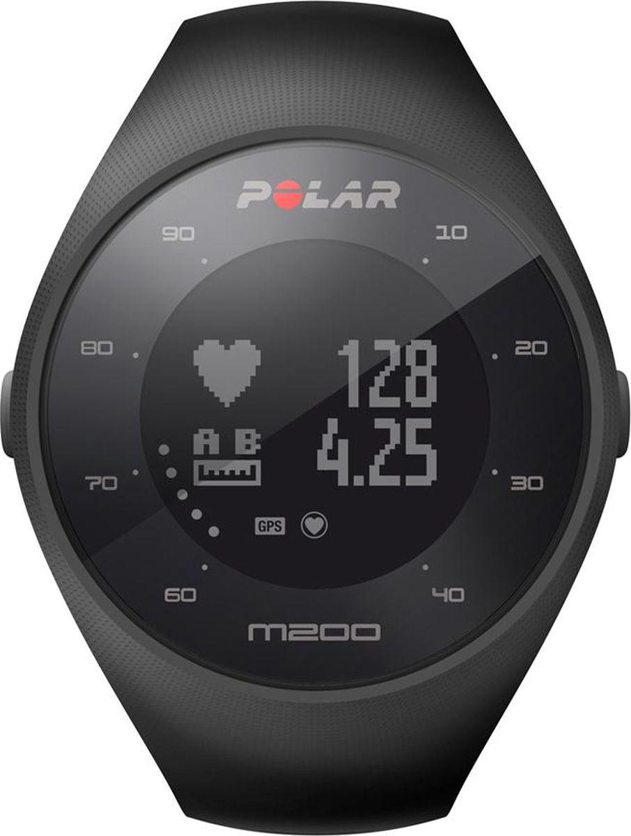 GPS-часы для бега Polar M200, с датчиком сердечного ритма на запястье, цвет: черный. Размер M/L gps с встроенным ais для компьютера