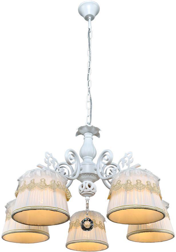Люстра Максисвет Текстиль, 5 х E14, 40W. 2-6770-5-WH E142-6770-5-WH E14Главный европейский тренд - люстры с абажурами из ткани. Представленные в нашей коллекции модели обладают утонченным шармом и выделяются среди остальных светильников стильным айном и невысокой стоимостью.В нашей коллекции «Текстиль» представлены как классические светильники с конусообразным абажуром, так и подвесные «барабаны» или цилиндры. Мягкий свет, который излучает люстра с абажуром, хорошо подойдет как для спальни, так и для кухни, гостиной или других помещений вдоме.Светильник с тканевым абажуром создаст в комнате уютную, «домашнюю» обстановку.Прекрасным дополнением к люстре станут аналогичные по фактуре бра или торшеры. Еслипространство комнаты велико, то можно приобрести два торшера, чтобы создать симметрию иощущение уравновешенности композиционного решения.Еще одним достоинством этой коллекции светильников является возможность быстрой инедорогой замены абажуров. И его, без сомнения, оценят покупатели, стремящиеся следоватьмодным колористическим трендам в дизайне интерьеров.