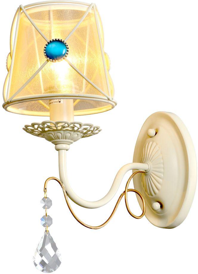 Бра Максисвет Текстиль, 1 х E14, 40W. 3-6499-1-BGS E143-6499-1-BGS E14Подвесные люстры с абажурами из легкой органзы и невероятно красивыми голубыми вставками, придадут помещению оттенок изящества и легкости.Белоснежный каркас светильника украшен металлическими прутками из белого золота и декорирован хрустальными элементами. Серия 6499 представлена люстрами на 5, 7 рожков и дополнена элегантным бра. Такие люстры будут прекрасно смотреться как в гостиной, так и в спальне, освещая помещение мягким светом. Они наполнят дом теплотой и уютом.