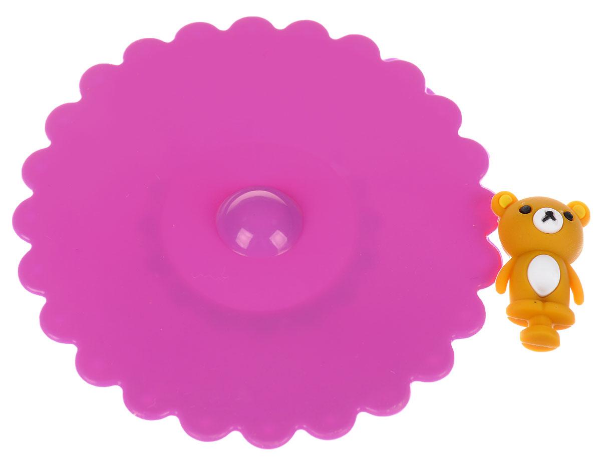 Крышка Доляна Мишка, цвет: фиалковый, 11 см811982_голубойКрышка Доляна Мишка станет незаменимым помощником любой современной хозяйки! Онавыполнена из безопасного пищевого силикона, устойчивого к температурам от -40 до +250градусов. Изделие не впитывает посторонние запахи, удобно в транспортировке и хранении.Яркие света и необычная форма ручки привлекут внимание любого посетителя вашей кухни, а вампоможет не потерять крышку среди остальной посуды.