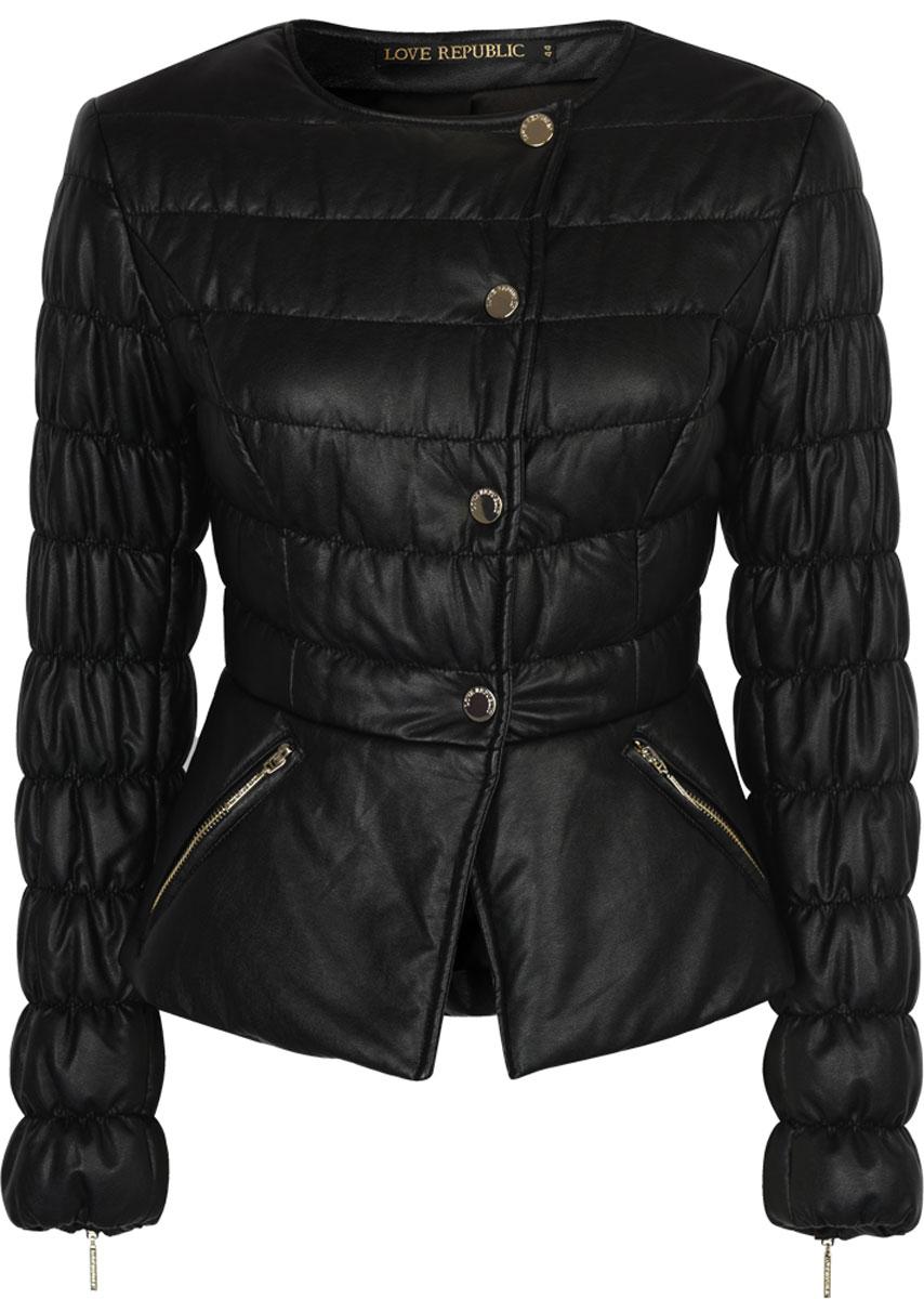 Куртка женская Love Republic, цвет: черный. 8152271101. Размер 46 велопокрышка czech republic road bmx 20x2 20