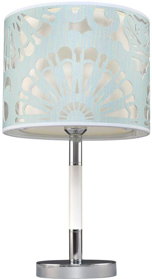 Лампа настольная Максисвет Текстиль, 1 х E27, 12W. 5-6501-1-CR+WH E27 подвесной светильник максисвет 6501 2 6501 6 cr e27