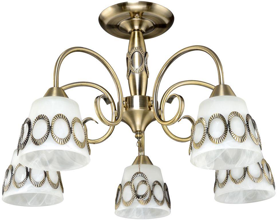 Люстра Максисвет Классика, 5 х E27, 60W. 1-4142-5-AB E271-4142-5-AB E27Основное достоинство светильников выполненных в классическом стиле –это использование натуральных материалов и естественных цветов.Каркас светильника выполнен в цвете античной бронзы.
