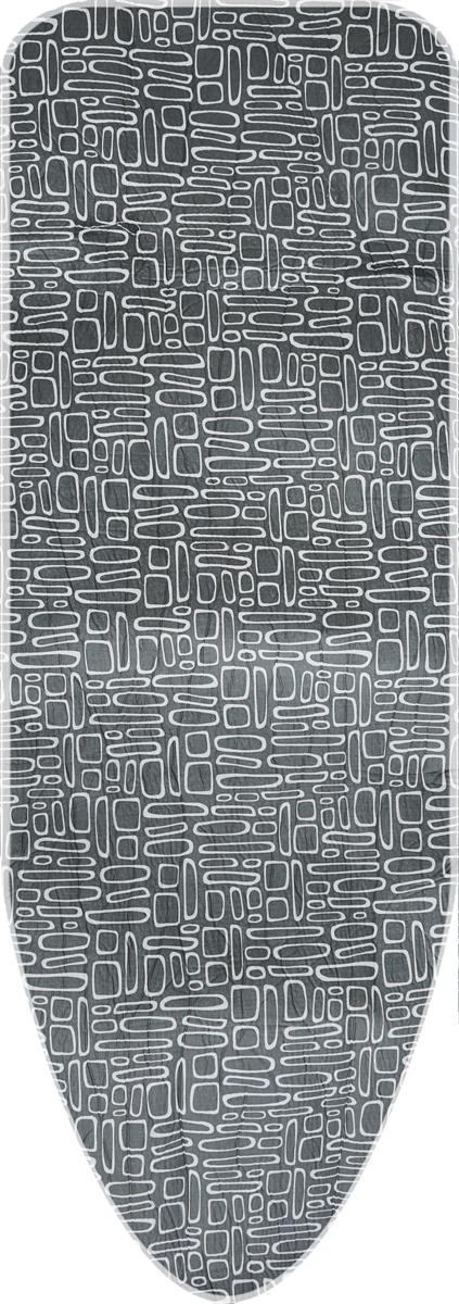 Чехол для гладильной доски  Paterra , с затяжным шнуром, цвет: серый, белый, 146 х 55 см -  Сушилки для белья