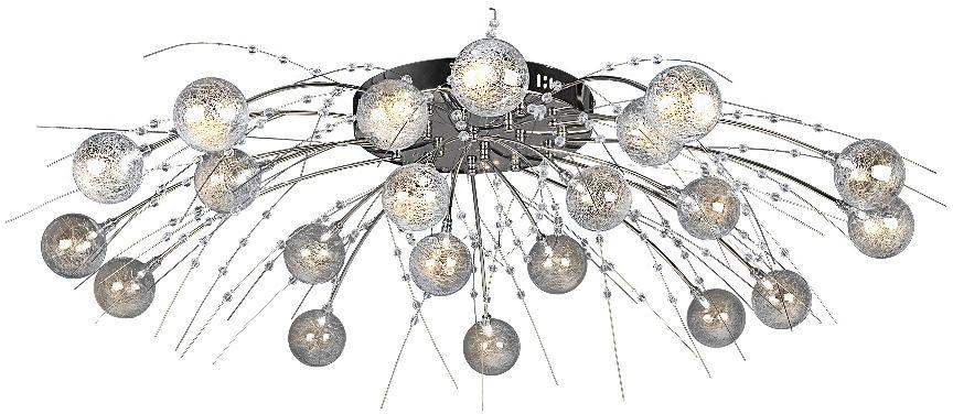 Люстра Максисвет Геометрия, 21 х G4, 20W. 1-1481-21-CR Y G41-1481-21-CR Y G4Коллекция «Геометрия» – это светильники, задающие ритм всему помещению, уместныепрактически в любом интерьере, независимо от выбранной стилистики или габаритовпомещения.Особенность люстр из коллекции «Геометрия» – это большое число лампочек, размещенныхна достаточно большой площади, а также наличие разноцветной светодиодной подсветкии многообразных режимов освещения, которые создадут нужное настроение в любое времясуток.Благодаря разнообразию моделей, оригинальности дизайна, а также доступной цене этисветильники пользуются массовым спросом и позволяют удовлетворить практически любогопокупателя.