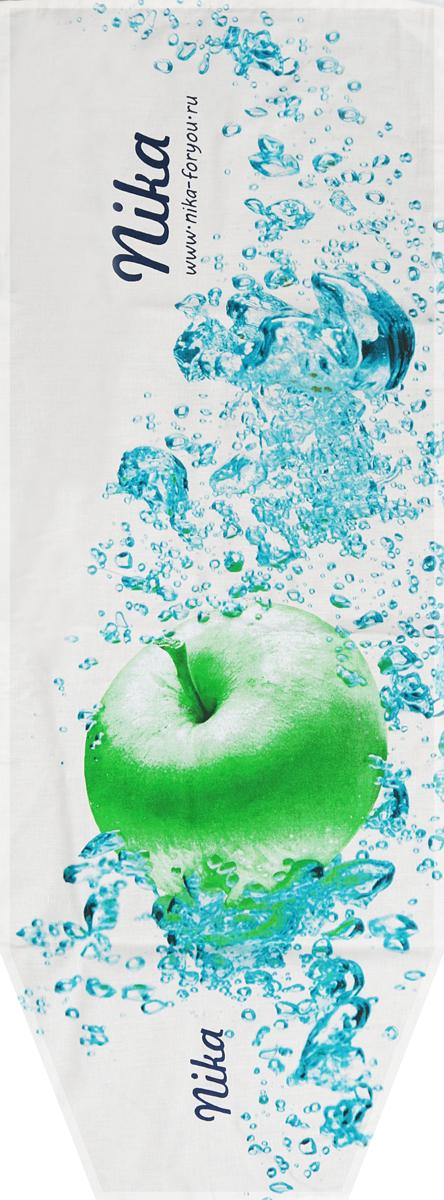 Чехол для гладильной доски Nika Яблоко, универсальный, цвет: белый, голубой, зеленый, 129 х 51 смЧ2_белый, голубой, зеленыйЧехол Nika Яблоко, выполненный из бязи (100% хлопок), продлит срок службы вашей гладильнойдоски. Чехол снабжен стягивающим шнуром, при помощи которого вы легко отрегулируетеоптимальное натяжение и зафиксируете чехол на рабочей поверхности гладильной доски. Чехолоформлен красивым рисунком, что оживит внешний вид вашей гладильной доски.Размер чехла: 129 х 51 см.Максимальный размер доски: 125 х 42 см.