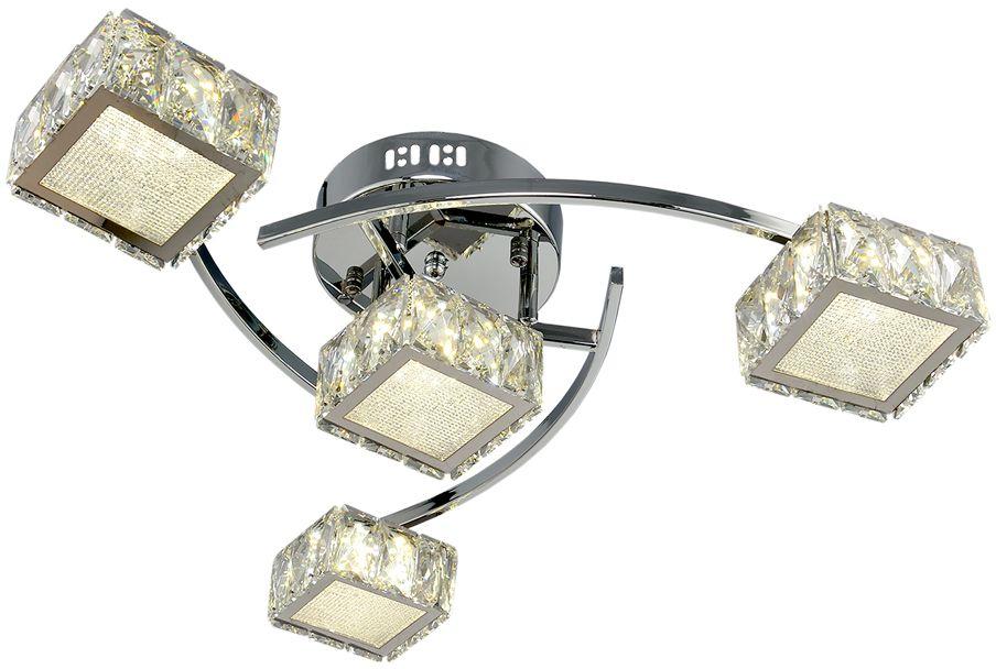 Люстра Максисвет Геометрия, 4 х LED, 8W. 1-1696-4-CR Y LED1-1696-4-CR Y LEDКоллекция «Геометрия» – это светильники, задающие ритм всему помещению, уместныепрактически в любом интерьере, независимо от выбранной стилистики или габаритовпомещения.Особенность люстр из коллекции «Геометрия» – это большое число лампочек, размещенныхна достаточно большой площади, а также наличие разноцветной светодиодной подсветкии многообразных режимов освещения, которые создадут нужное настроение в любое времясуток.Благодаря разнообразию моделей, оригинальности дизайна, а также доступной цене этисветильники пользуются массовым спросом и позволяют удовлетворить практически любогопокупателя.