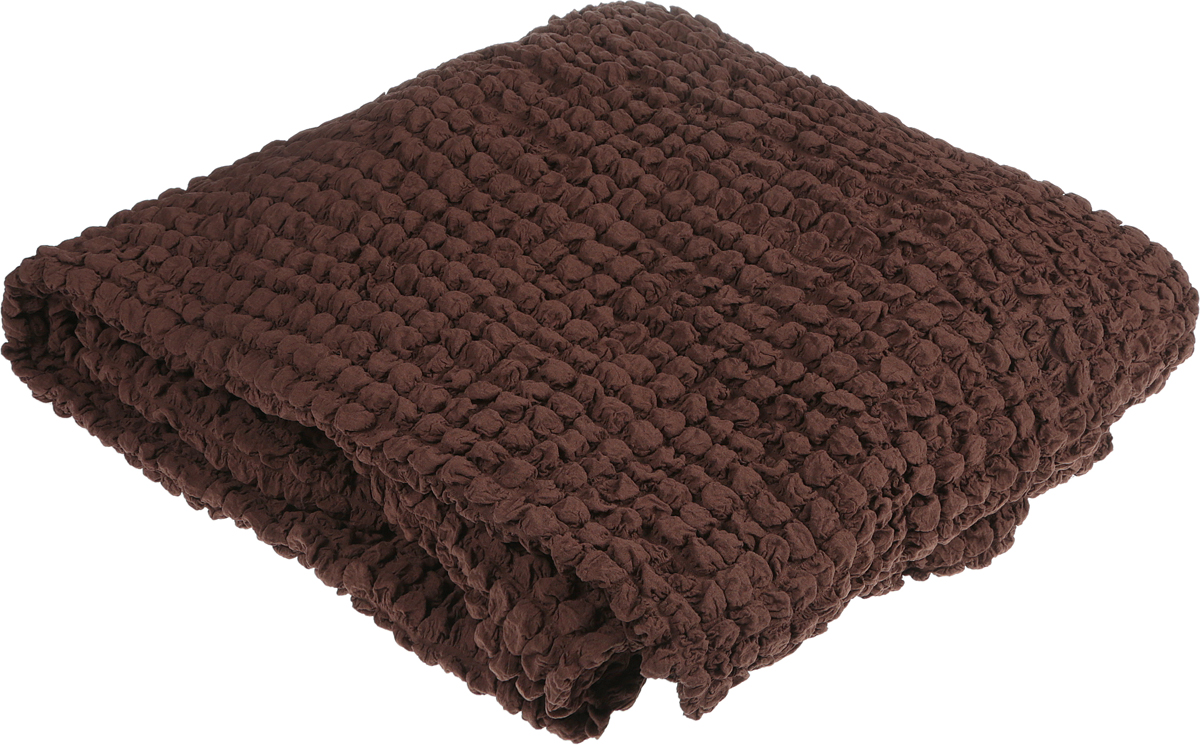 Набор чехлов МарТекс, для углового дивана и кресла, цвет: коричневый. 05-0780-3