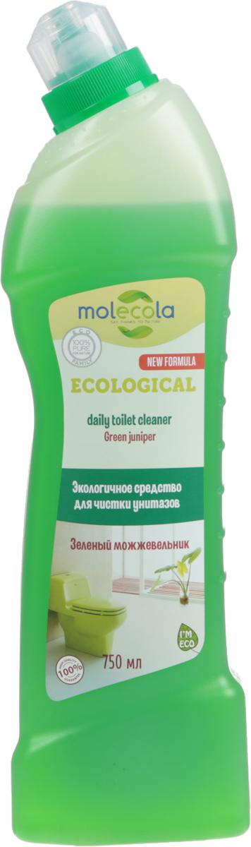 Средство для ванной и туалета Molecola Green Juniper, зеленый можжевельник, 750 мл9141Molecola Green Juniper - это эффективное экологичное средство для чистки унитазов и сантехники с ароматом можжевельника и зеленого бергамота. Средство легко очищает и удаляет известковый налет, безопасно для кожи и дыхательных путей. Рекомендовано людям, имеющим аллергическую реакцию на средства бытовой химии. Новая формула на основе безопасных растительных ингредиентов обеспечивает высокую эффективность и экологичность использования.Состав: вода, Уважаемые клиенты! Обращаем ваше внимание на то, что упаковка может иметь несколько видов дизайна. Поставка осуществляется в зависимости от наличия на складе.Товар сертифицирован.Как выбрать качественную бытовую химию, безопасную для природы и людей. Статья OZON Гид
