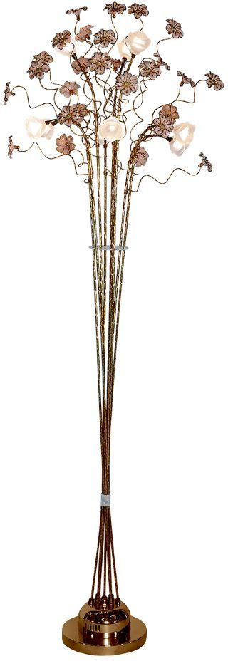 Торшер Максисвет Флористика, 9 х G4, 20W. 4-5147-9-GL G44-5147-9-GL G4Флористическое декорирование – актуальное направление в дизайне интерьеров.Использование цветочных мотивов позволяет наполнить интерьер теплотой, романтичнымнастроением, сделать его изысканным и элегантным.Люстры коллекции «Флора» от Максисвет воссоздают природные линии и формы в стекле,металле.Также, особенное настроение создает светодиодная подсветка.Благодаря широкому модельному ряду, разнообразию формы плафонов и цветов каркасаможно подобрать люстру практически для любого интерьера.