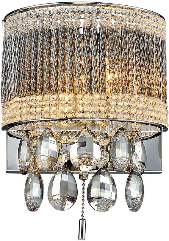 Бра Максисвет Диамант, 2 х E14, 40W. 3-2617-2-CR E143-2617-2-CR E14Новая серия хрустальных бра в коллекции «Диамант» представлена в различных цветовых решениях и формах хрусталя. Это отличная возможность подобрать настенный светильник на любой вкус, индивидуальный дизайн. - хрусталь по периметру имитирует абажур светильника, подвесной хрусталь различных форм и тонировки дополнительно украшает бра- обратите внимание, что бра укомплектованы сонеткой-выключателем